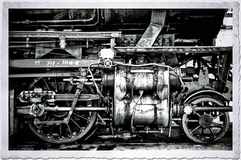 Steam Locomotive Inzidierung Meiningen Blackandwhite Zylinder Heusinger Steuerung Kolben Dampflok Dampflokomotive Best Shot Technik Technical