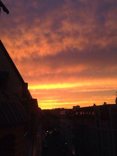 Insane Berlin sky this evening (no filter)