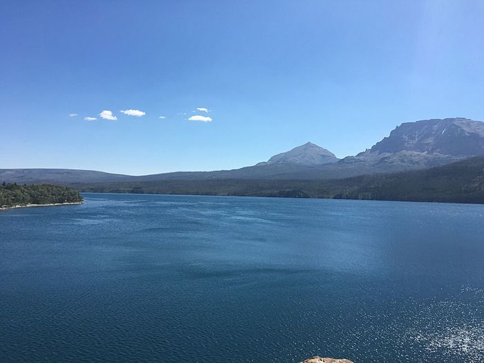 Mountain Scenics Beauty In Nature Tranquil Scene Nature Tranquility Outdoors No People Water Landscape Waterfront Lake Blue Day Sky Mountain Range