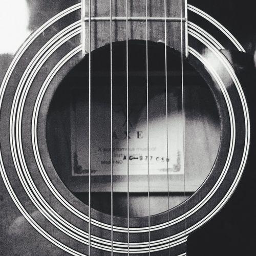 Enjoying Life Blackandwhite EyeEm Black And White Black & White Light And Shadow Guitar Beautiful