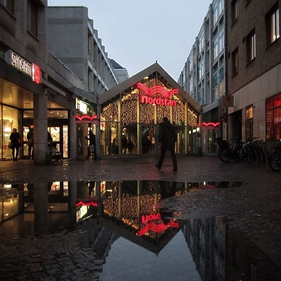He's coming, he's a superstar! Xmas Puddle Nordstan Reflection Shopping Neon Night Gothenburg Streetphotography People Nightshot Candid Man Darkness Sweden Goteborg Portrait Gente Silhouette Noche Building Charco Streetphoto Sverige Christmas Ig_sweden Figure Igersgothenburg