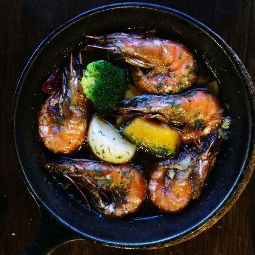 天使海老のガーリック海老オイル煮 アヒージョ Ajiilo Yummy Food Dinner イカリヤ食堂 京都 Kyoto Japan
