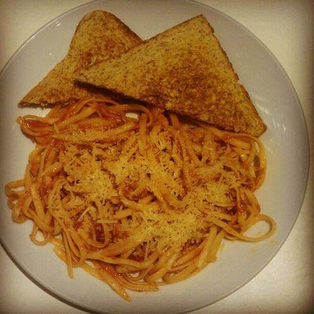 Pasta Amatriciana Seattlesbestcoffee Bread toast food foodgasm gastronomic yummy meal