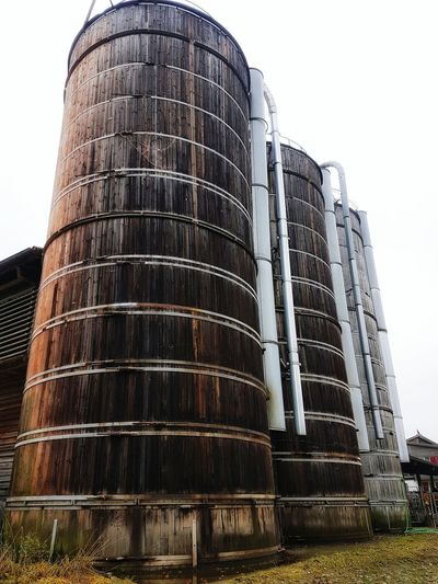 Architecture Low Angle View Built Structure Outdoors Agriculture Farm Equipment Silos
