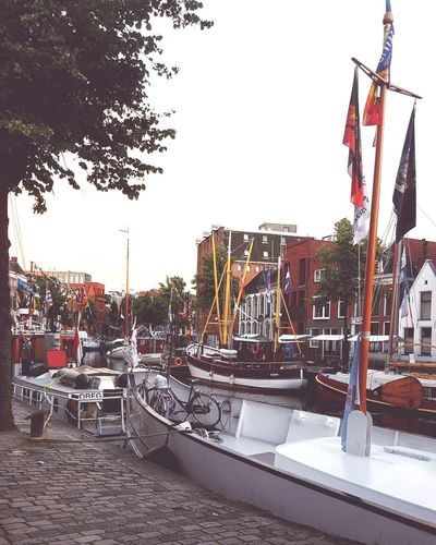 Groningen Water Boats⛵️ Tree City Life Cityscape City View  Westerhaven