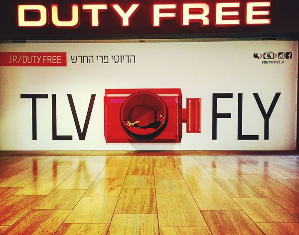 Airport Text Communication Illuminated Indoors  Red