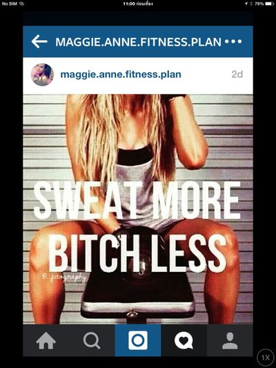 I share her Instagram. Exercise More Bitch 🚫 Less Or Not Quotes Love Chasing How Do You Look Like When You Flirt? Single ♥