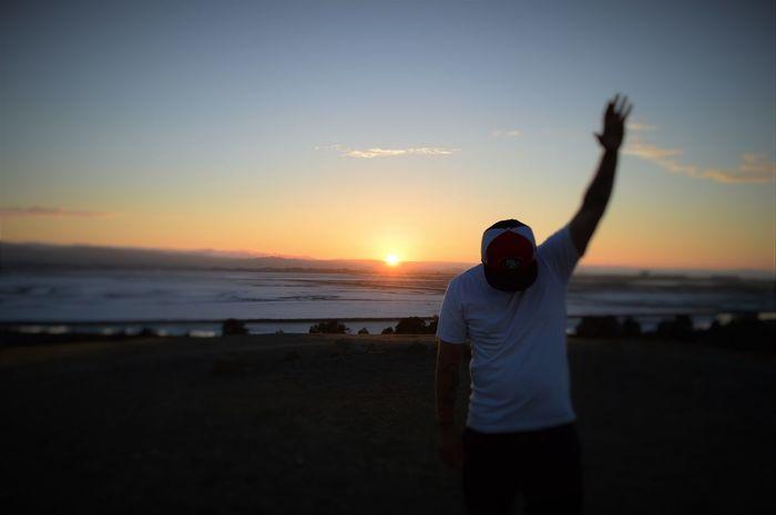 Hallelujah Hands Up Horizon Over Water Praise Praying Sunset SURRENDER Whorship Learn & Shoot: After Dark