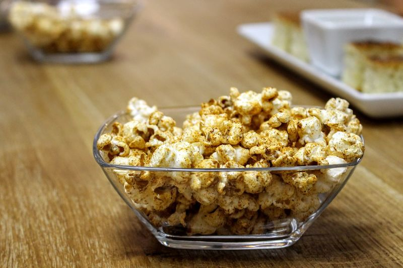 Popcorn Popcorns Bowl Breakfast Close-up Day Food Food And Drink Freshness Indoors  No People Protein Bar Ready-to-eat Sweet Food Table