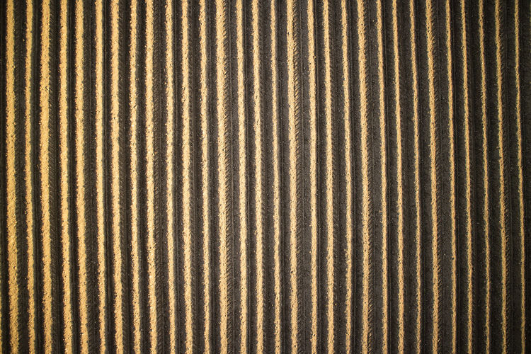 Backgrounds Pattern Full Frame Textured  No People Striped Close-up Textile Brown Repetition Indoors  Day Metal Material In A Row Abstract Simplicity Nature Design Textured Effect