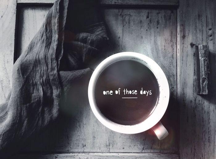 Me and the coffee Coffee Coffee Time Blackandwhite Black And White