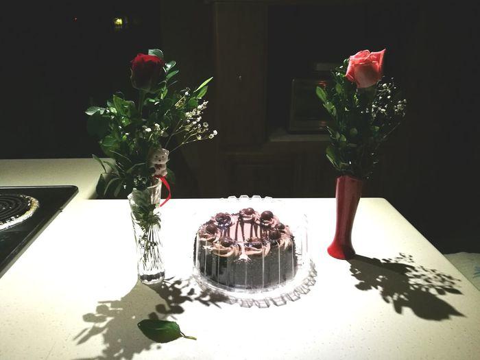 Celebration No People Flower Roses Cake Visual Feast