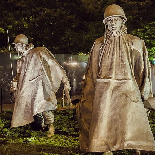 The Korean bizarre Washington Koreanwar Koreanmemorial Sculptures war