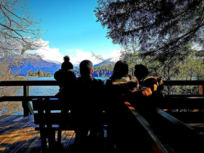 Isla Victoria Bariloche Family Argentina Argentina Photography Sunny Day Happiness Beauty In Nature View Men Technology Communication City Bridge - Man Made Structure HUAWEI Photo Award: After Dark #urbanana: The Urban Playground EyeEmNewHere