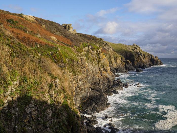 Coastline at the lizard cornwall Beauty In Nature Cliff Coast Coastline Landscape Nature Scenics Sea Water