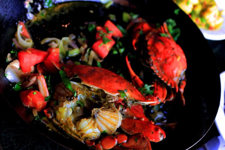 Macro Close-up Crabs Food Freshness No People Outdoors Pattern Red Seafood Summer Tavern