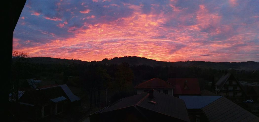 Sunset Check This Out Taking Photos Poland Autumn Sky And Clouds Orange Sky Nofilter#noedit Helloworld Great View
