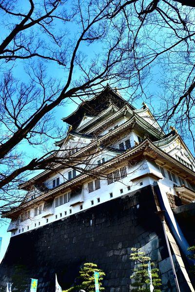 Osakacastle Osaka,Japan Elevation Gorgeous Architecture Historical Building Fujixe2