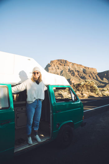 Girl Vanlife Van Campervan Camping Tenerife Teide National Park VwT3 Vintage Vwbulli SPAIN Nature Nature_collection Nature Photography Landscape Landscape_Collection Landscape_photography Young Adult Leisure Activity Outdoors Day Road Trip Lifestyles Sky Young Women