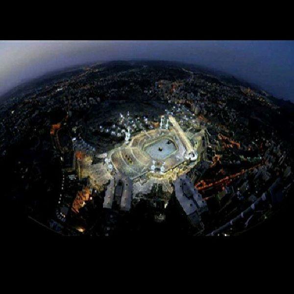 Holyland Mecca InstaPlace Igers inagram instadroid ig_daily ig instadroidnesia fisheye lens shine bright wonderful kabah