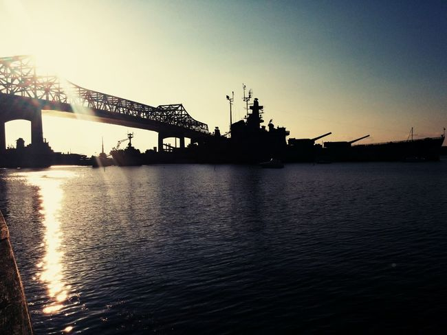 Evening in FALLRIVER BattleShipCove