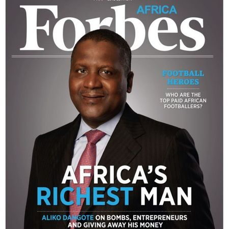 """There seems to be no shortage of Billionaires . The Forbes 2013 list of the world's Billionaires had 1,426 names, up 200 from last year."" Aliko Dangote"