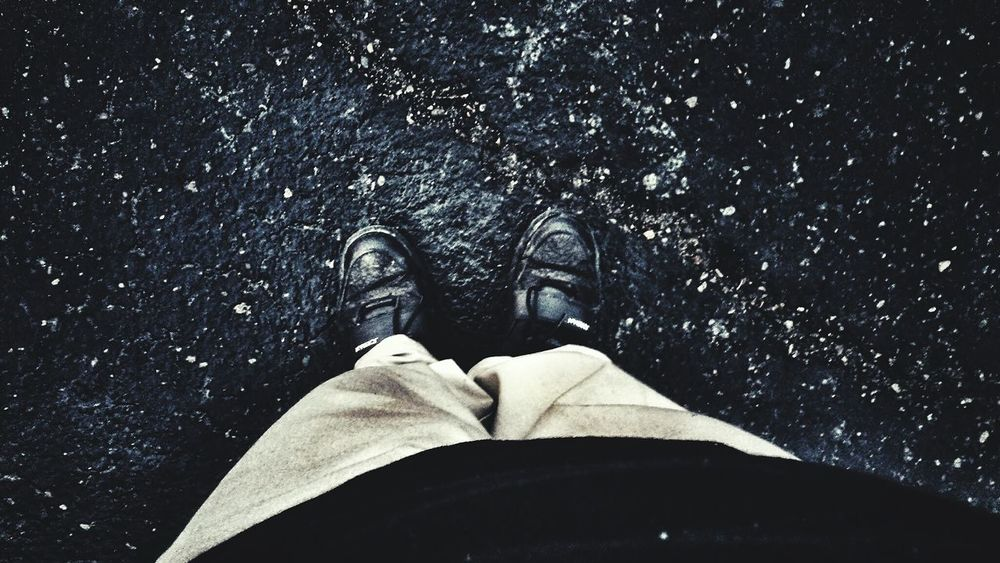 Road Shoeselfie Pavedstreet Paved Road Pavement Pants And Shoes >> Pants Blackshoes Blackshirt