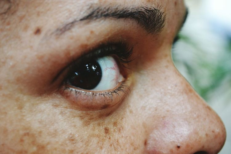 Human Eye Human Body Part Close-up One Person Eye Human Skin Eyesight Portrait Adult Human Face Beauty Adults Only People Eyebrow Eyelash One Woman Only Young Adult Women Freckle Skin
