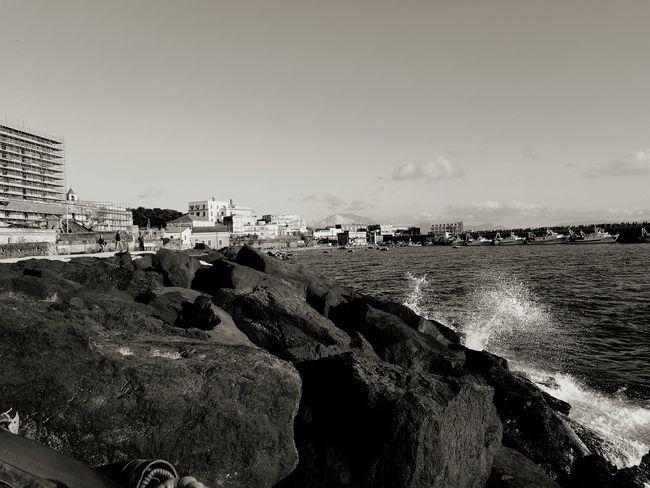 !!!!! Mare Porto Scogli Scogliera Schizzi Blackandwhite Photography First Eyeem Photo