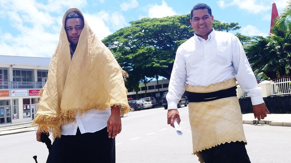 Traditional Man Dressing @Kingdom of Tonga Kingdom Of Tonga Culture And Tradition Cultural Heritage Travel Destinations Young Adult Fun Lifestyles Outdoors Friendship Men Happiness Sky City