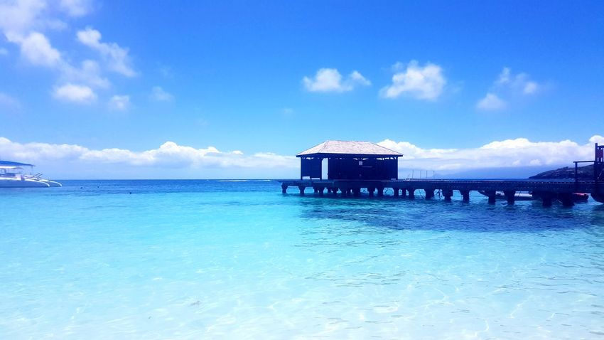 Sea Beach Water Summer Vacations Sky Blue Built Structure Outdoors Relaxation Travel Destinations Horizon Over Water Nature Tourist Resort Bridge Gwadeloupe Guadeloupe Gwada  Tropiques Tropical Climate Travel IslandHolidays Tranquility Sun