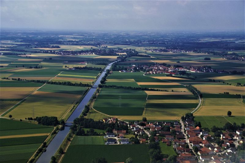 Aerial View Agriculture Architecture Beauty In Nature Building Exterior Day Field Germany Grass Landscape Nature No People Outdoors Patchwork Landscape River Rural Scene Scenics Sky Tranquil Scene Tranquility Tree Water