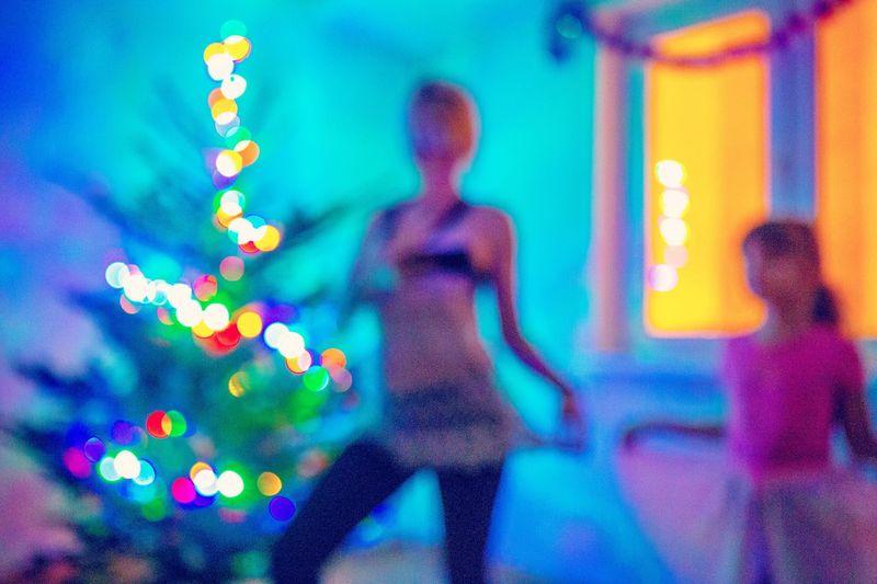 Dance dance... 💃🏼💃🏼 Happy new Multi Colored year 🎉🎊 Illuminated Decoration Lights Defocused Bokeh Lights