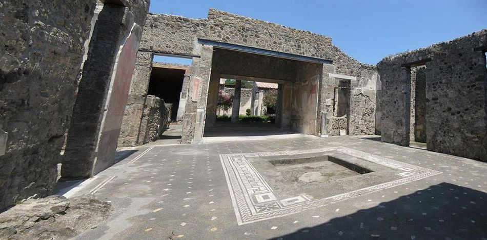 Architecture Building Built Structure Distorted History House Pompeii  Tiled Floor Wall - Building Feature