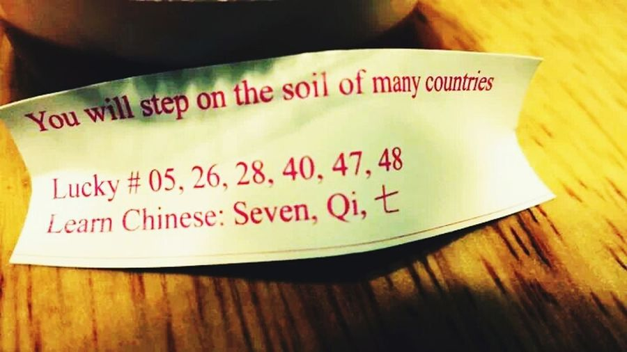 Starting A Trip Fortune Cookie Ifonlyifonly >_<