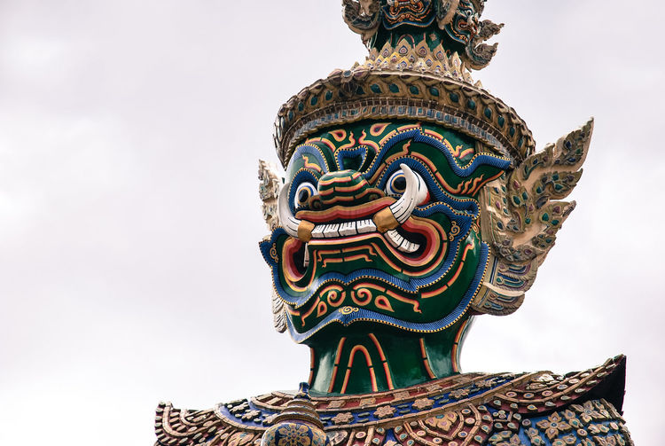 giant (yak) ASIA Asian  Bangkok Thailand Architecture Art And Craft Day No People Outdoors Sculpture Sky Tavel