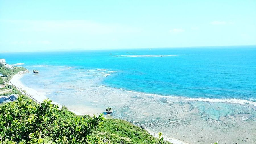 海 南国 沖縄 知念岬 Sea Horizon Over Water Water Nature Beauty In Nature Scenics High Angle View first eyeem photo