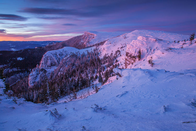 Winter landscapes from carpathian mountains