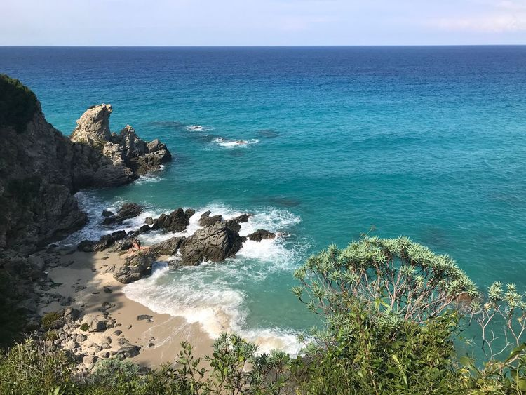 Zambrone Sea Water Beauty In Nature Horizon Over Water Scenics - Nature Horizon Beach Outdoors Blue Rock Nature Rock - Object Idyllic Tranquil Scene Sky Land