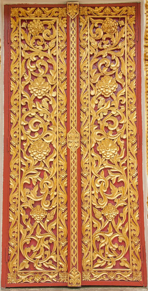 ASIA Faith Measuring Window Monastery Thailand Art Believe Pattern Temple Temple - Building Temple Architecture Temple Thailand Thai Art; Thai Pattern Window