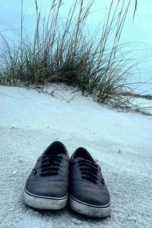 Worn Vans are the best. Beach Sand PCB Florida Clouds