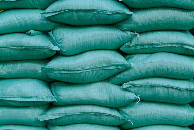 Abundance Arrangement Backgrounds Bag Blue Close-up Day Detail Full Frame Large Group Of Objects Natural Pattern Nature No People Repetition Sand Bags