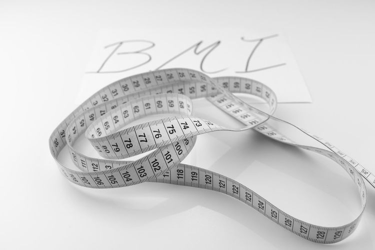 BMI Body Mass Maßband Close-up Day Indoors  No People Still Life Studio Shot Tape Measure Text White Background