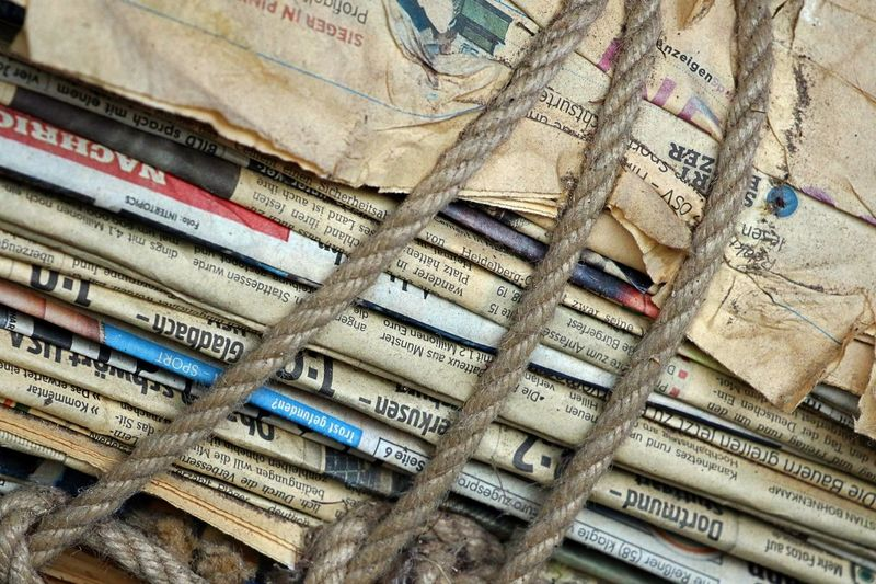 Backgrounds Bundle Day Full Frame Large Group Of Objects Newspapers No People Old News Old Newspapers Old Papers Ropes Fresh On Market 2017