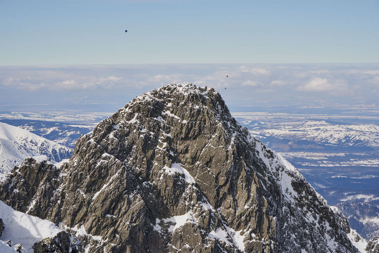 High Tatra in winter Beauty In Nature Nature No People Winter Snow Cold Temperature Sky Scenics - Nature Mountain Mountain Range Day Landscape Snowcapped Mountain Rock Balloon