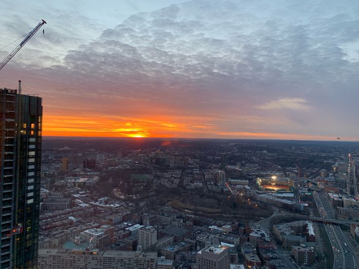 #sunset #MobileSky Sky Sunset City Cloud - Sky