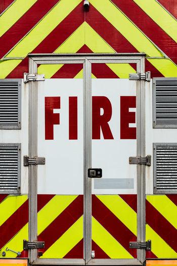 Full frame shot of fire engine