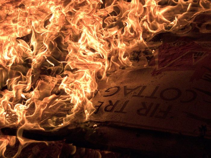Sign on Fire