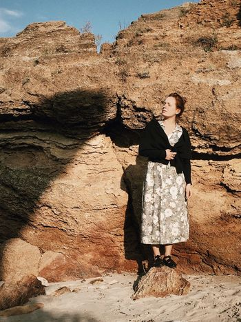 Tina Rips Autumn Coquina Coquina Beach Coquina Wall Coquinabeach Coquinakeybeach Day Dress Fashion Fashion Photography Full Length Model Model Pose Model Shoot Nature Outdoors Rock Rock Formation Shadow Sunlight Sunny Togetherness Tranquil Scene Tranquility Woman