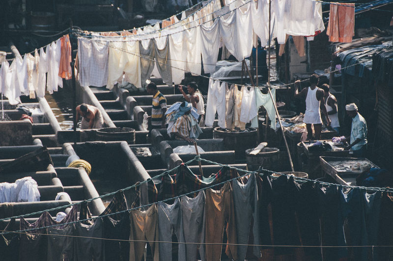 Clothes drying for sale at market